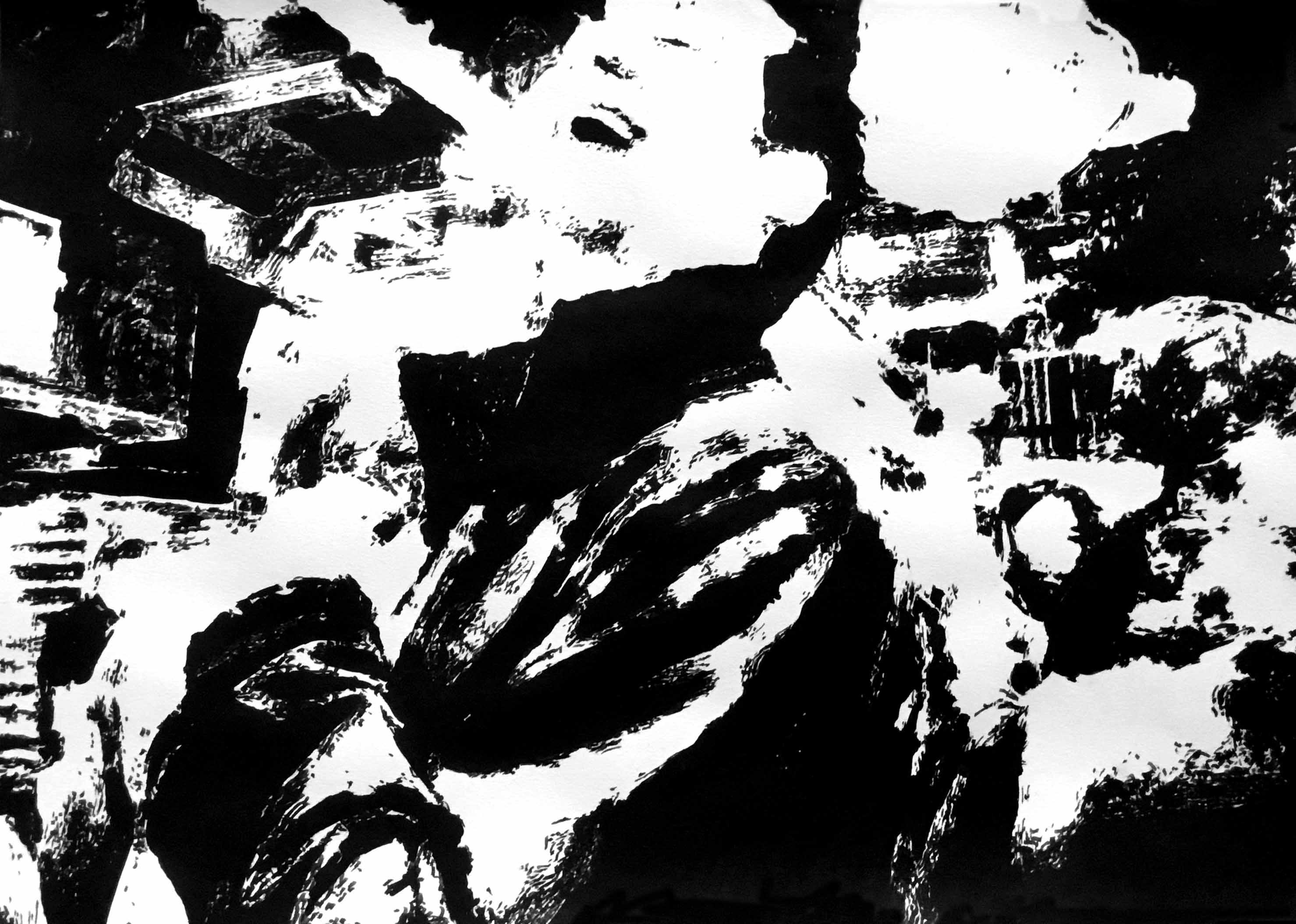 """"""" Opus XIII """" - Encre de Chine sur papier Canson - 0.42 X 0.30"""