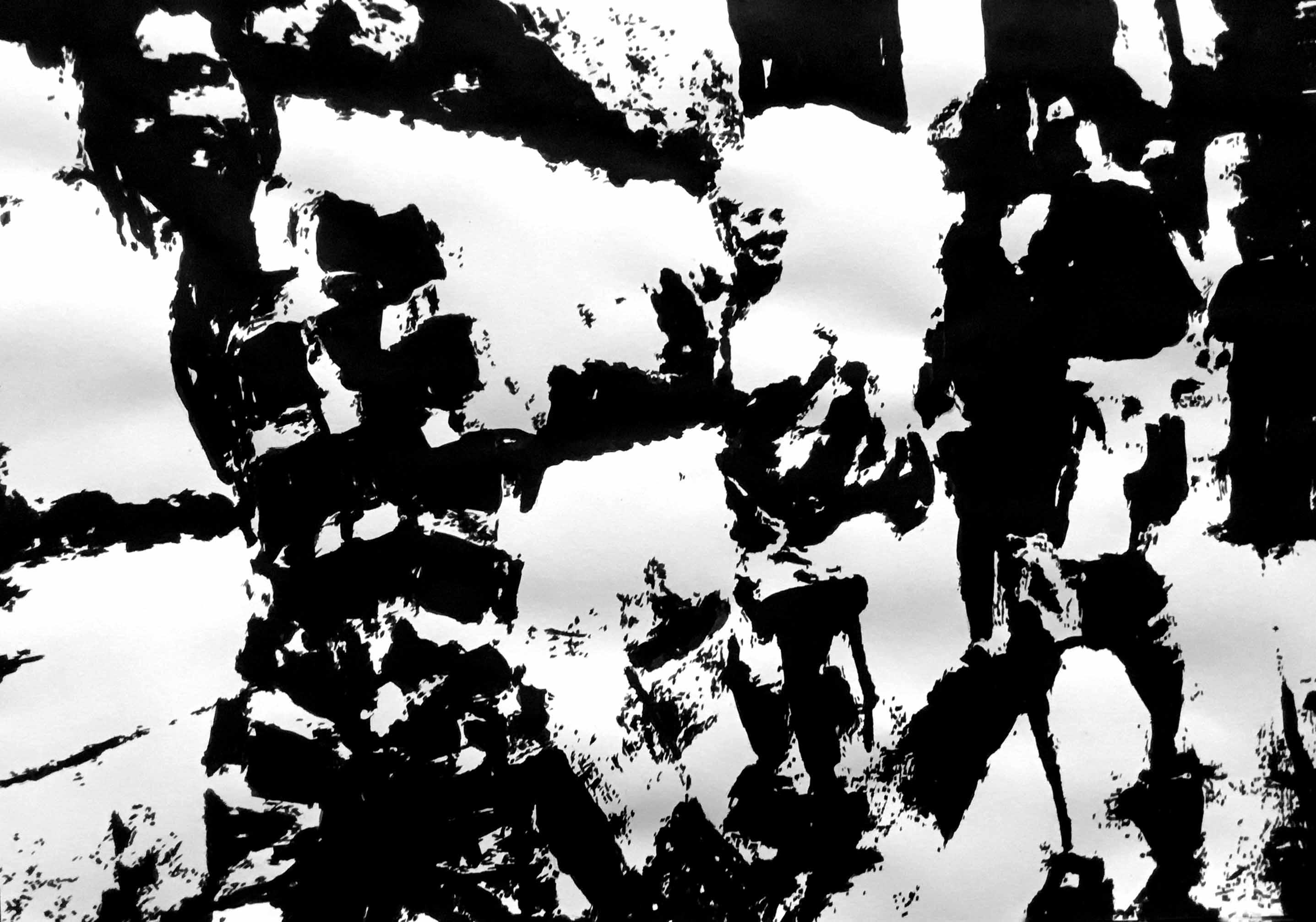 """"""" Opus VI """" - Encre de Chine sur papier Canson - 0.42 X 0.30"""