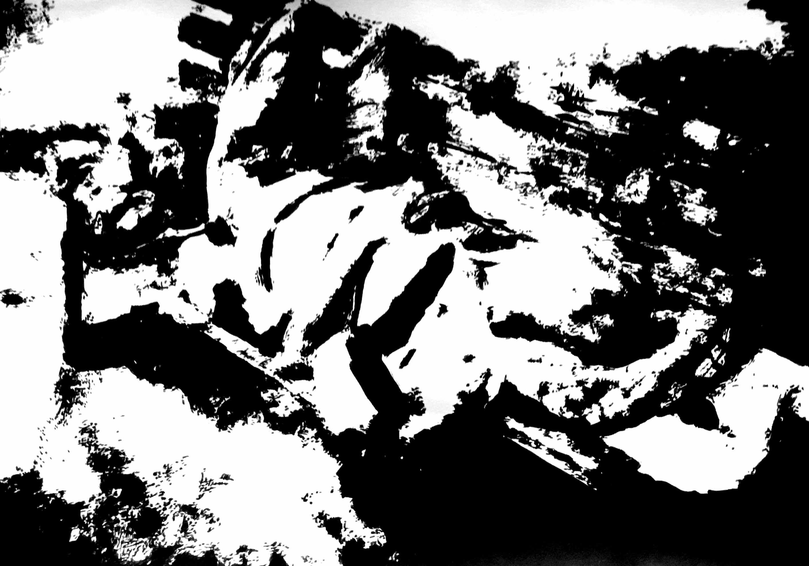 """"""" Opus XV """" - Encre de Chine sur papier Canson - 0.42 X 0.30"""