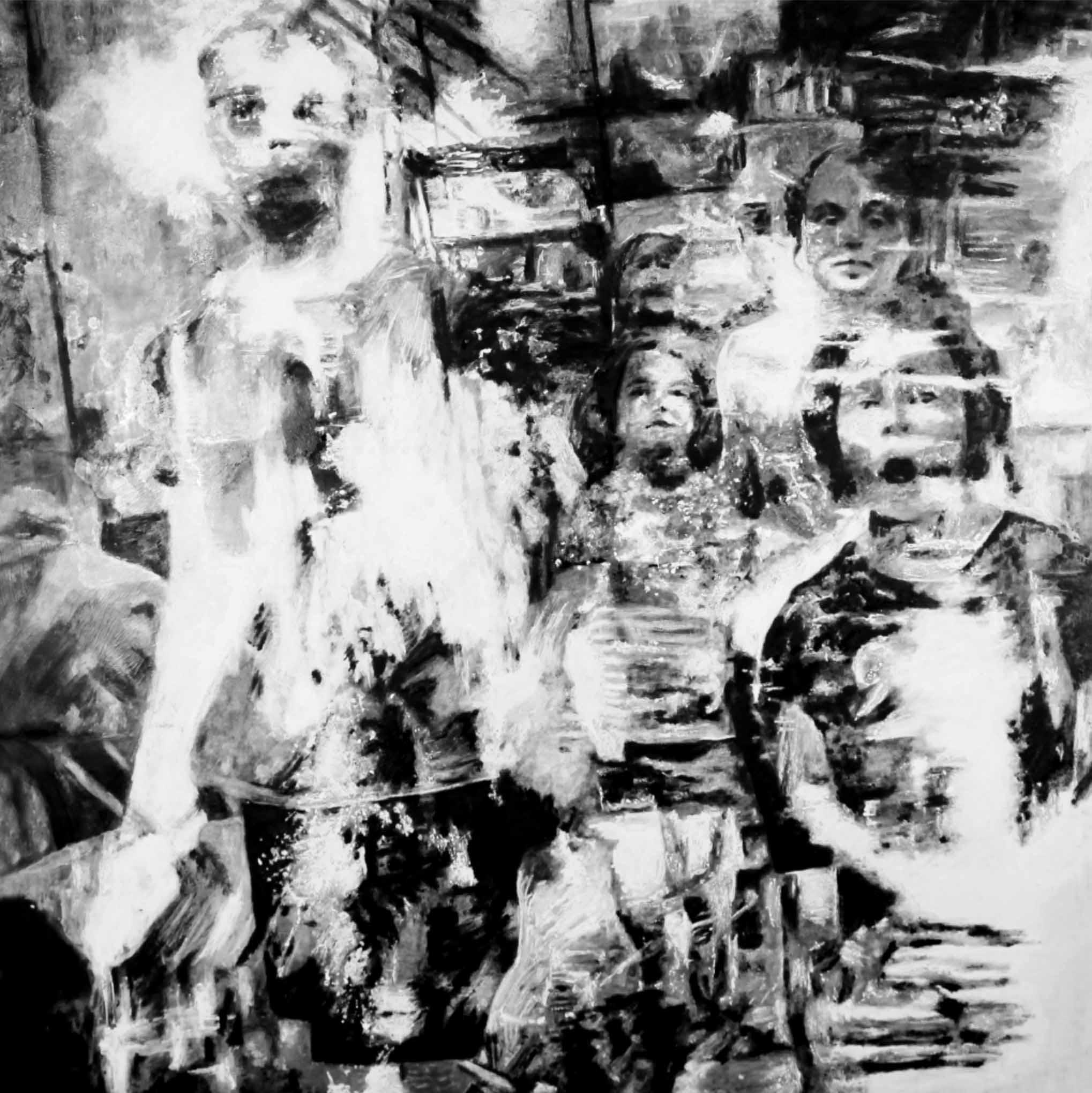 """"""" L'Enfant Lumière """"- Huile sur Toile 1.10 X 1.10 - Prix sur demande -"""