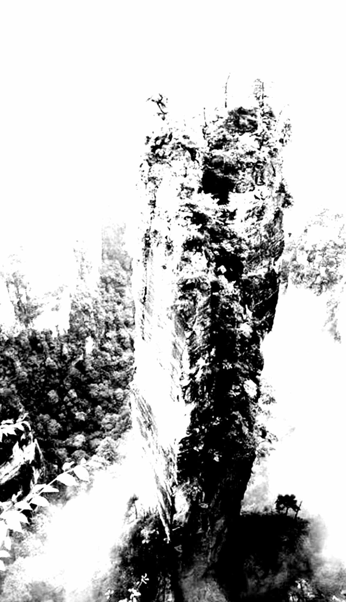 """"""" Le Rocher de Tanios """" - Encre de Chine sur papier Canson 1.05 X 0.75 - Prix sur demande -"""