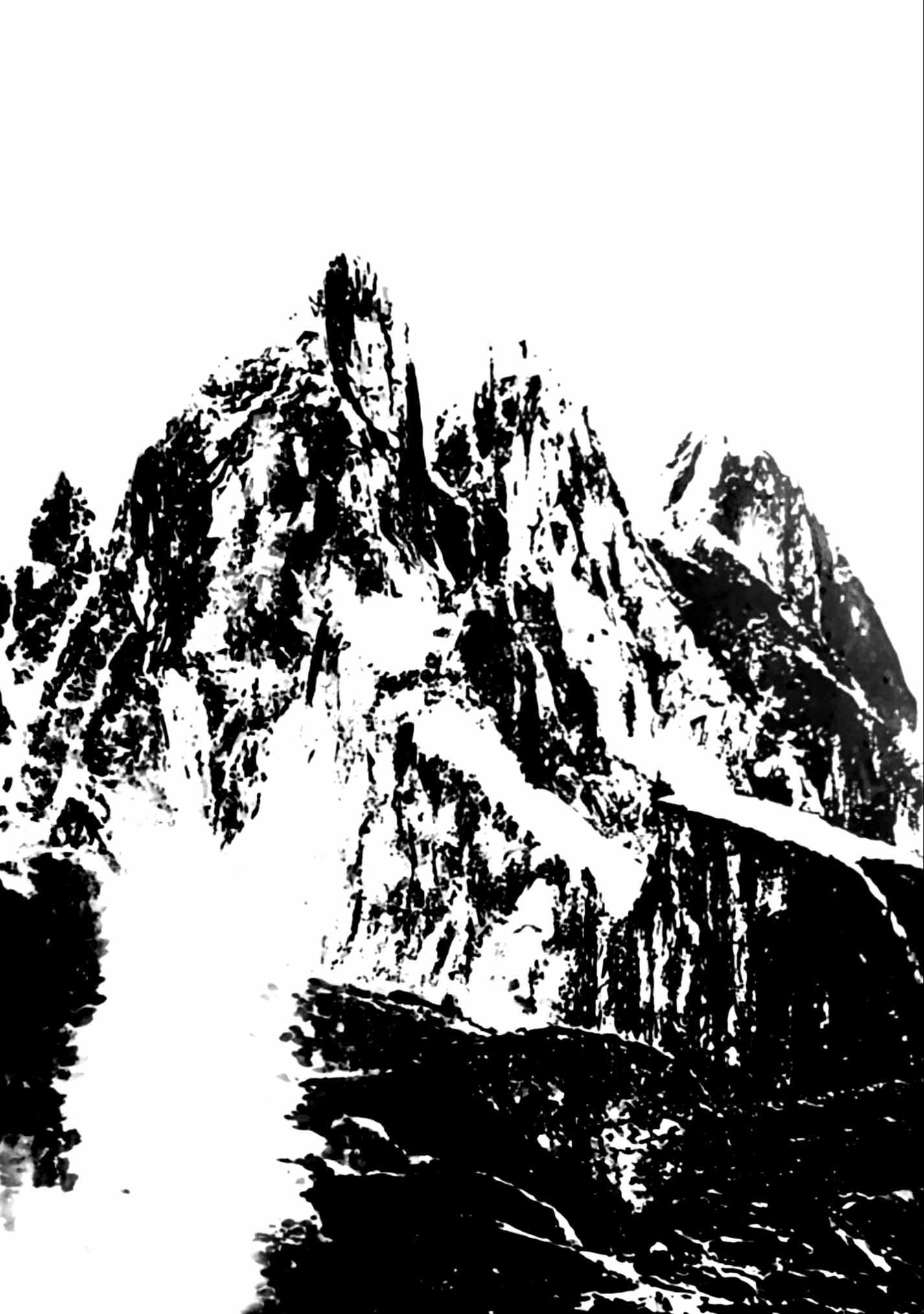 """"""" Le Sommet des Dieux """" - Encre de Chine sur papier Canson 1.05 X 0.75 - Prix sur demande -"""