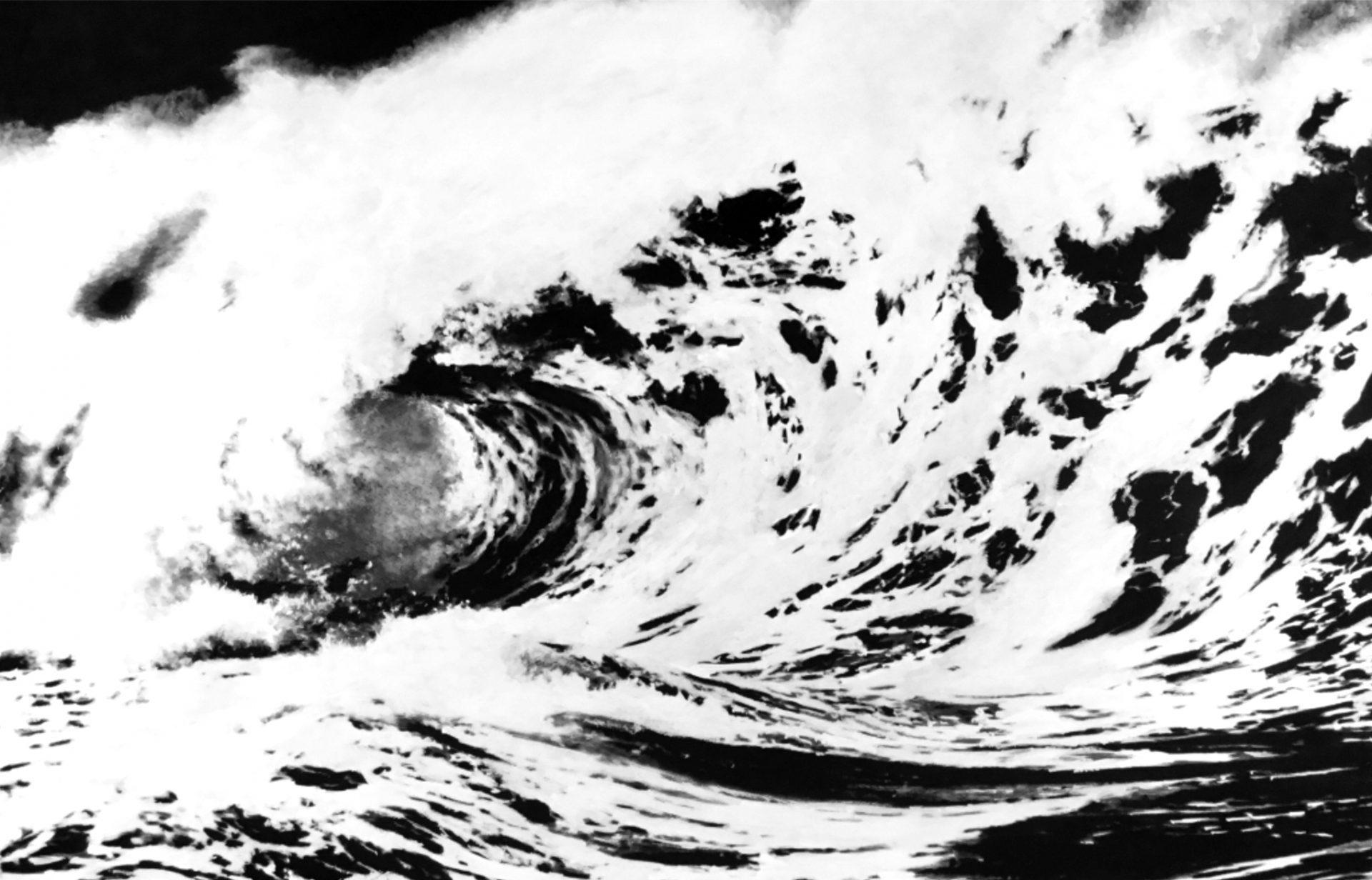 """"""" L'Ecume des Jours """"- Dessin à la Pierre noire, fusain avec rehauts de blanc sur papier Canson - 1.00 X 0.75 - Prix sur demande -"""