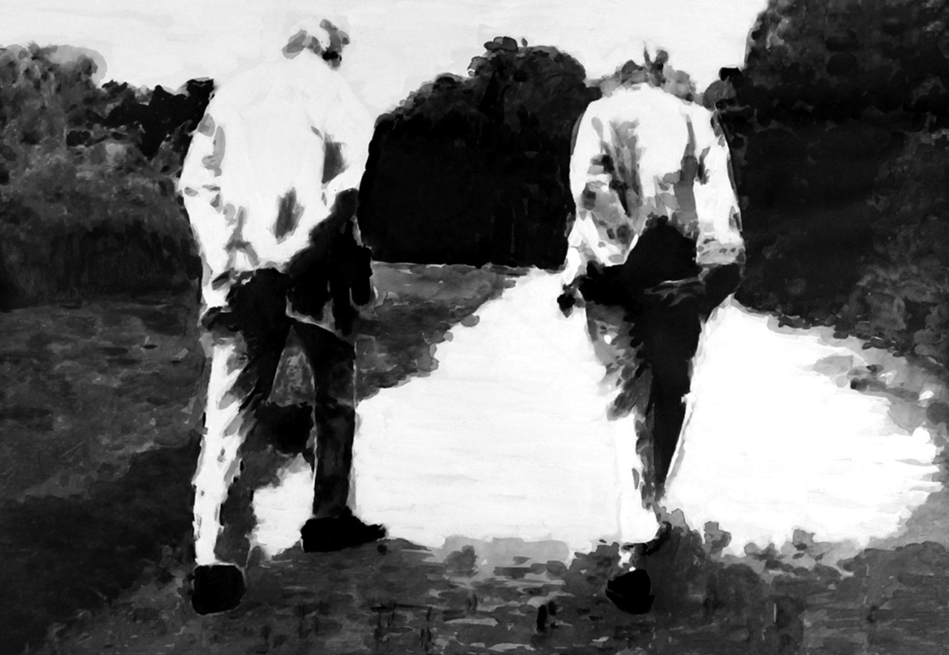 """"""" Jamais Deux sans Toi...""""- Encre de Chine avec rehauts de blanc sur papier Canson 1.00 X 0.75 - Prix sur demande -"""