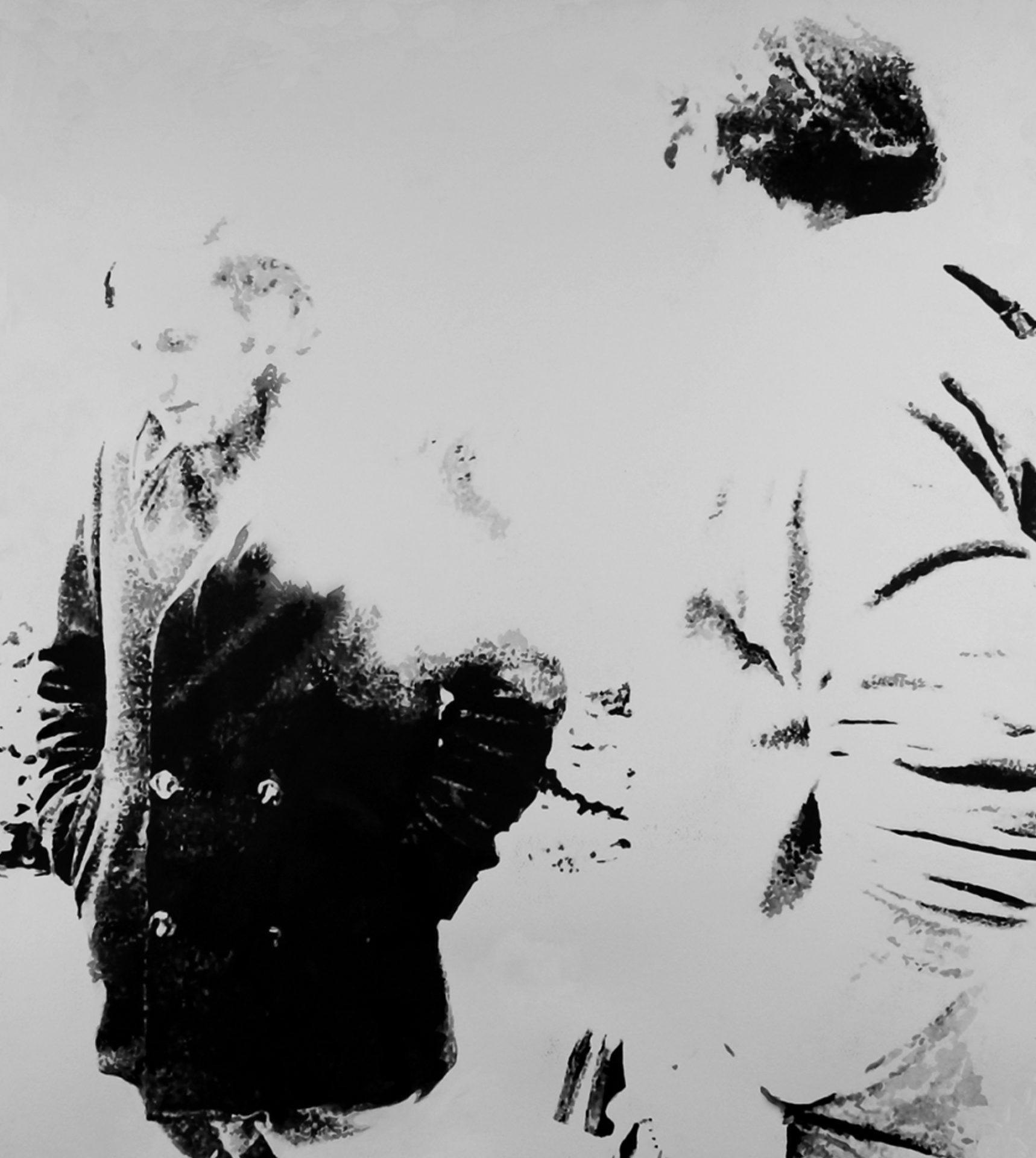 """"""" Les Amis de l'Autre Rive """" Encre de Chine avec rehauts de blanc sur papier Canson 1.00 X 0.75 - Prix sur demande -"""