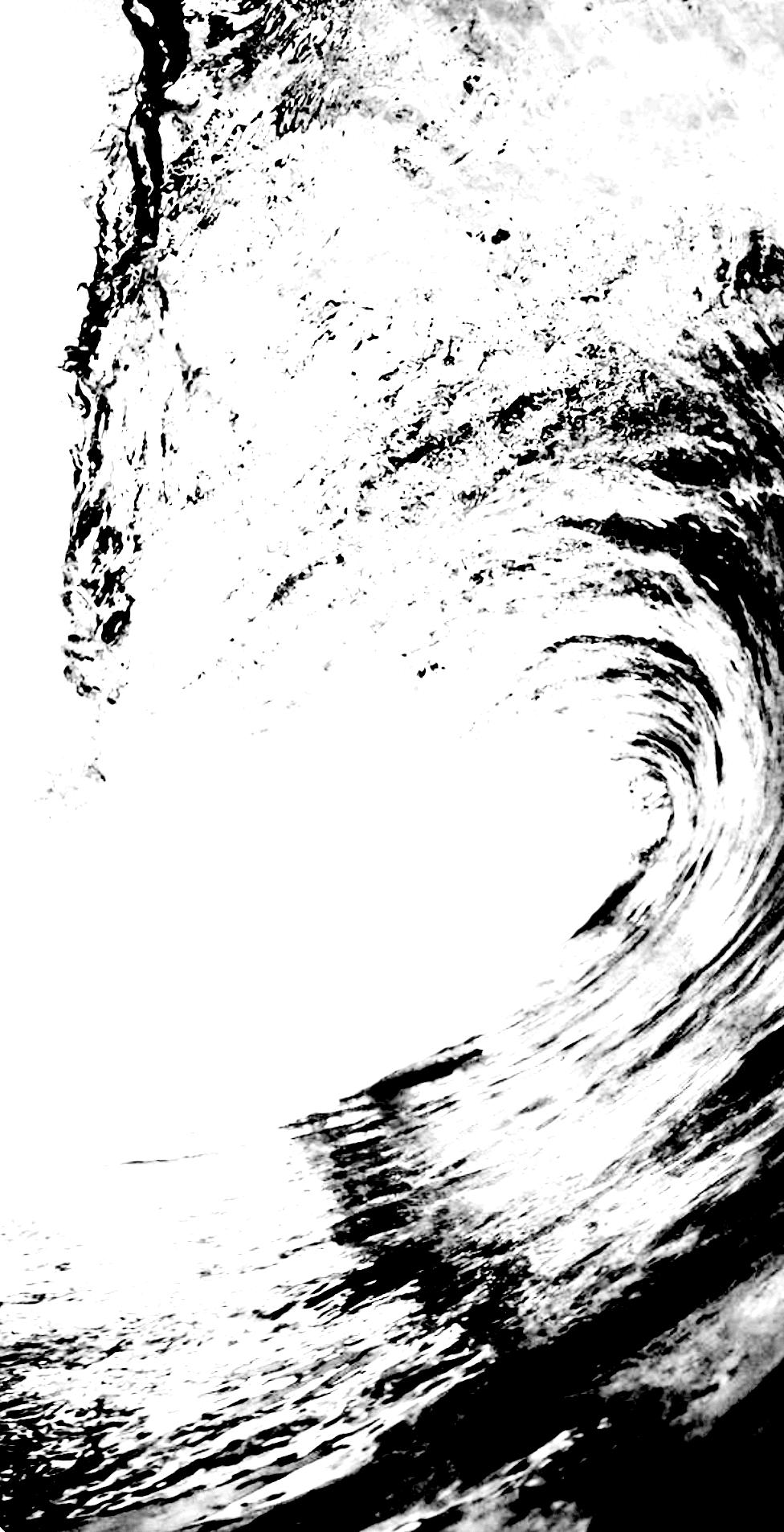 """"""" La Vague"""" - Encre de Chine avec rehauts de blanc sur papier Canson 1.05 X 0.75 - Prix sur demande -"""